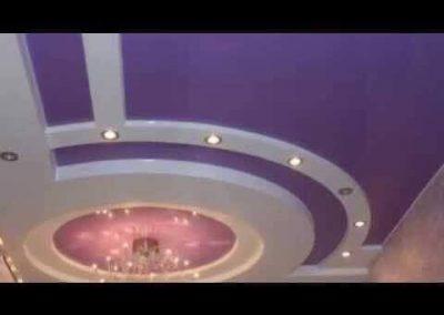 Gipszkartonozás, álmennyezet építés, rejtett világítás, világítástechnika, festés, mennyezeti hangulatvilágítás, gipszkarton álmennyezet, álmennyezet sziget, gipszkarton sziget